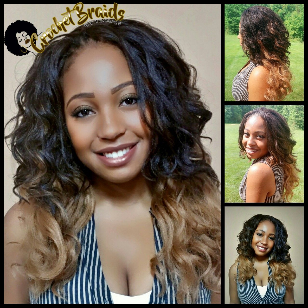 kima ocean wave crochet braids. to achieve the ombre look, i