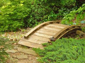 japanese garden bridge potential path to centerpiece feature - Japanese Garden Bridge Design