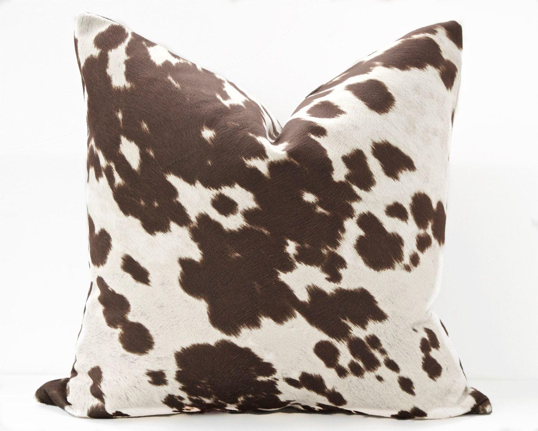 Pony pillow cover - Cream, Brown, Neutral toss pillow cushion ...