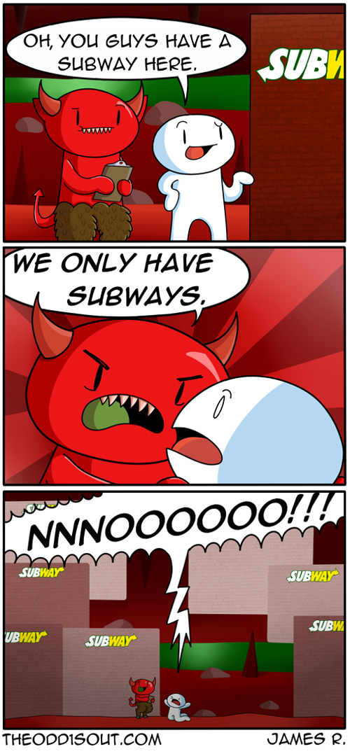 Subway Funny Funny Comics The Odd 1s Out Funny Comic