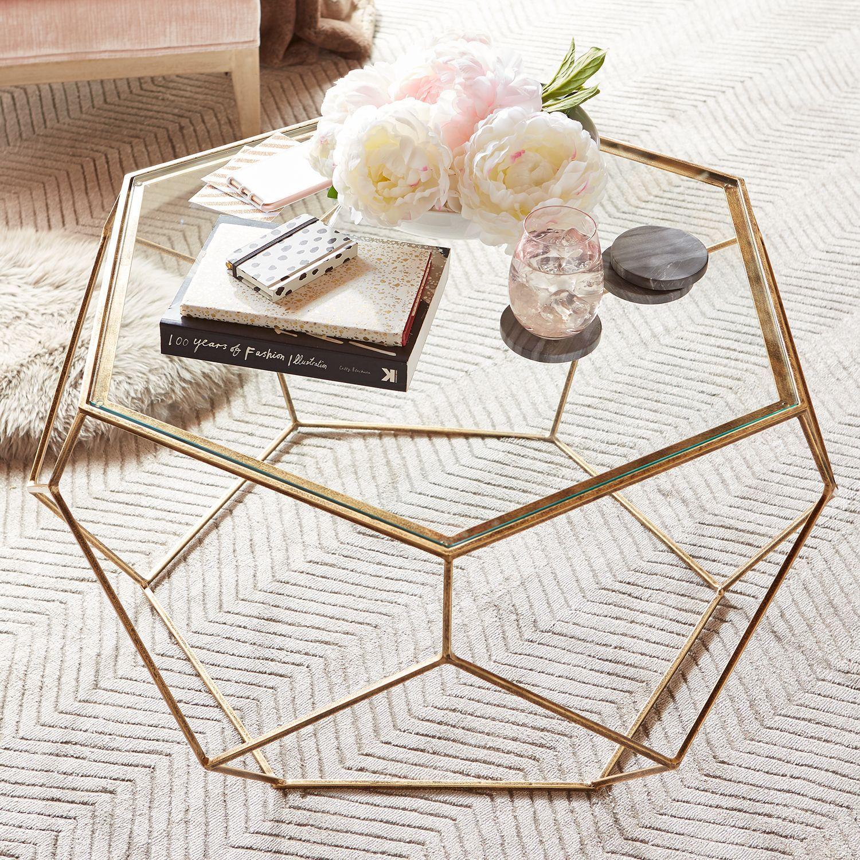Geometric Coffee Table Round Glass Coffee Table Geometric