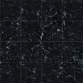 Textures Texture seamless | Marquina black marble tile ...