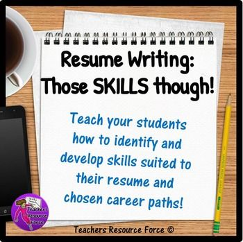 Resume Writing Help for Teens All About Job Skills Pinterest