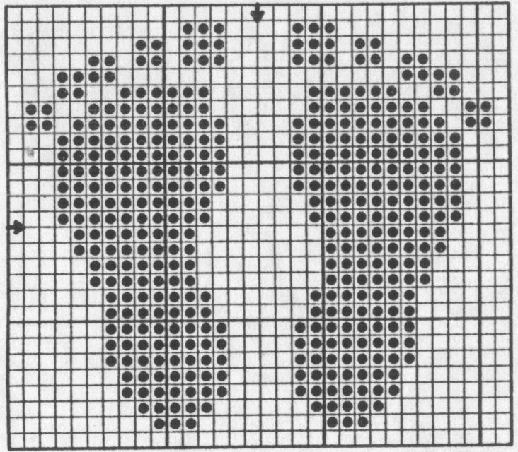 Knitting Chart No Stitch : Https google search q footprint knitting pattern