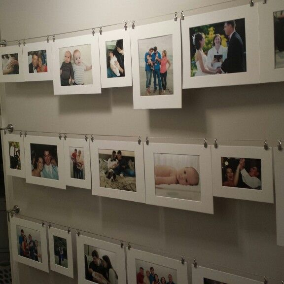 Gallery Wall Planner photo gallery wall using ikea dignitet curtain wire, white photo