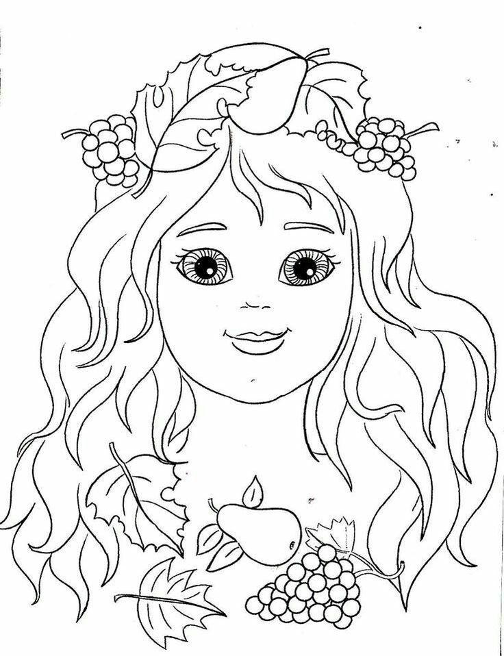 Раскраска лицо девушки осень (19 фото) | Раскраски ...