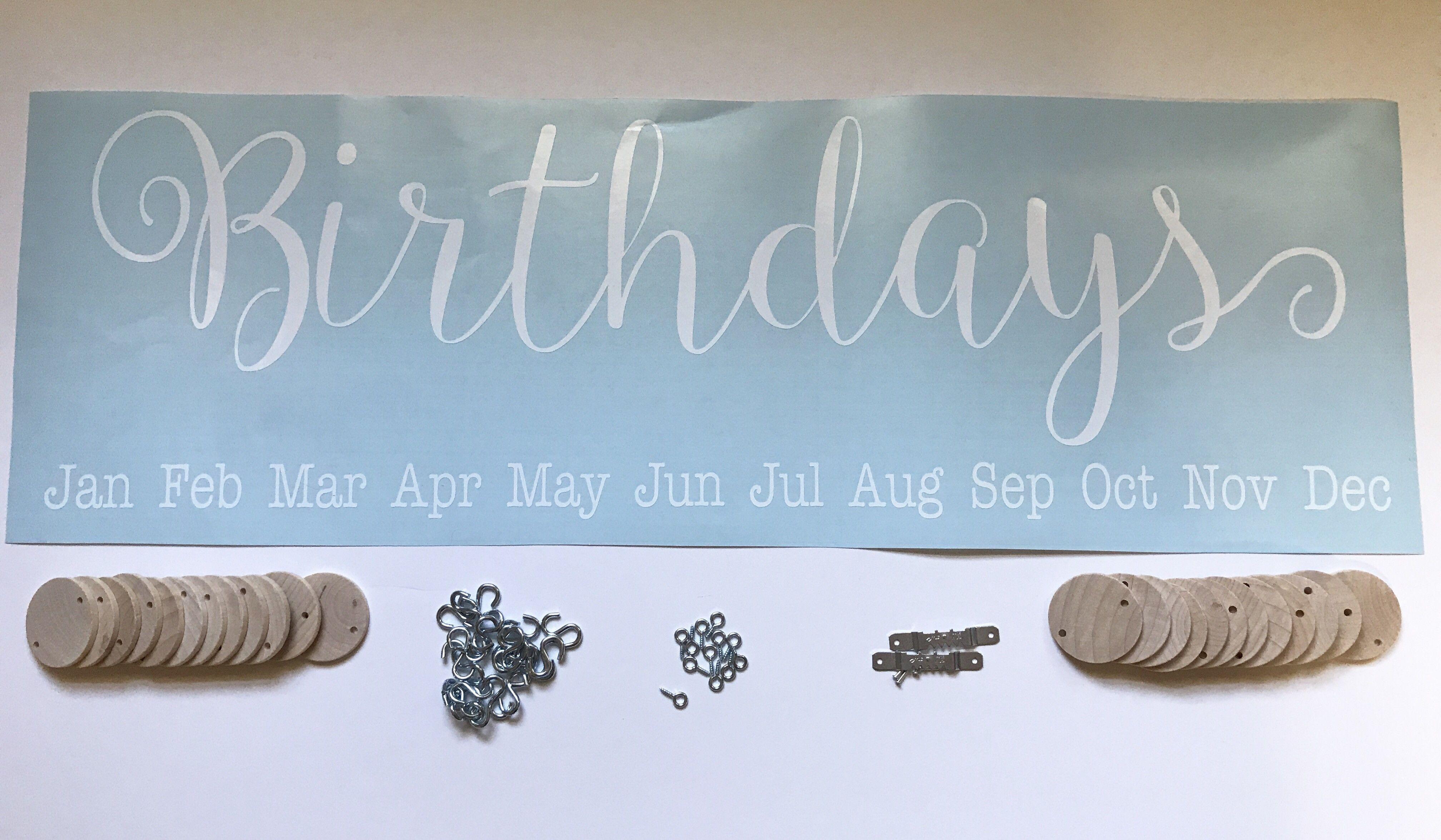 Diy birthdays board kit no board included birthday