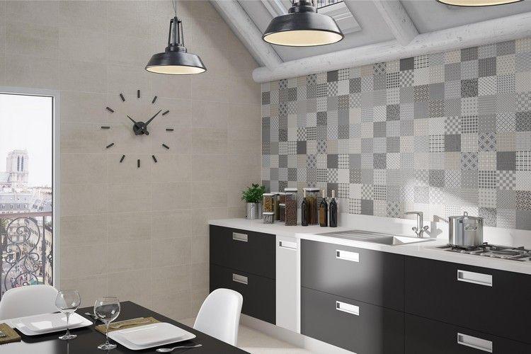Carrelage mural cuisine en 20 idées- à chacun son revêtement parfait ! - carrelage mur cuisine moderne