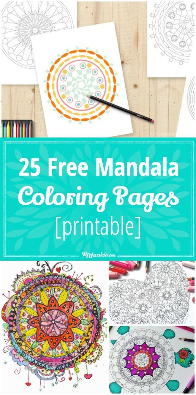 25 Free Mandala Coloring Pages [printable] | Actividades