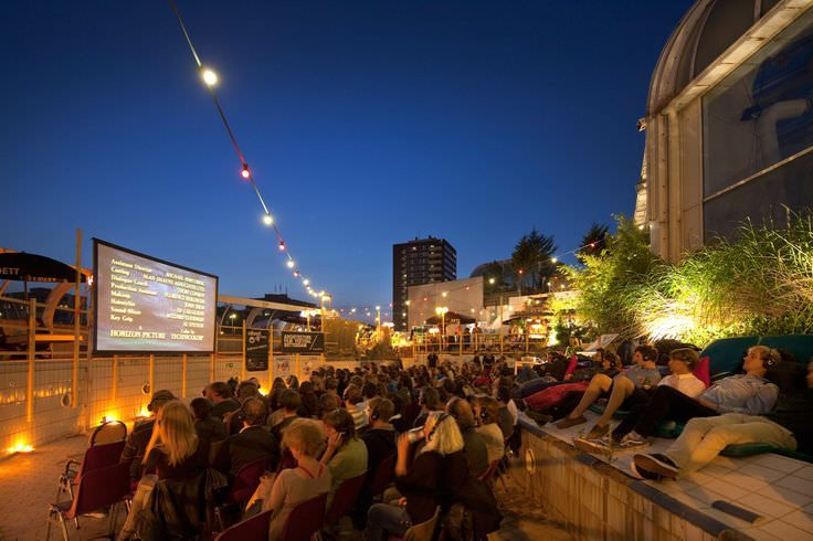 Rooftops turned into screening rooms during the