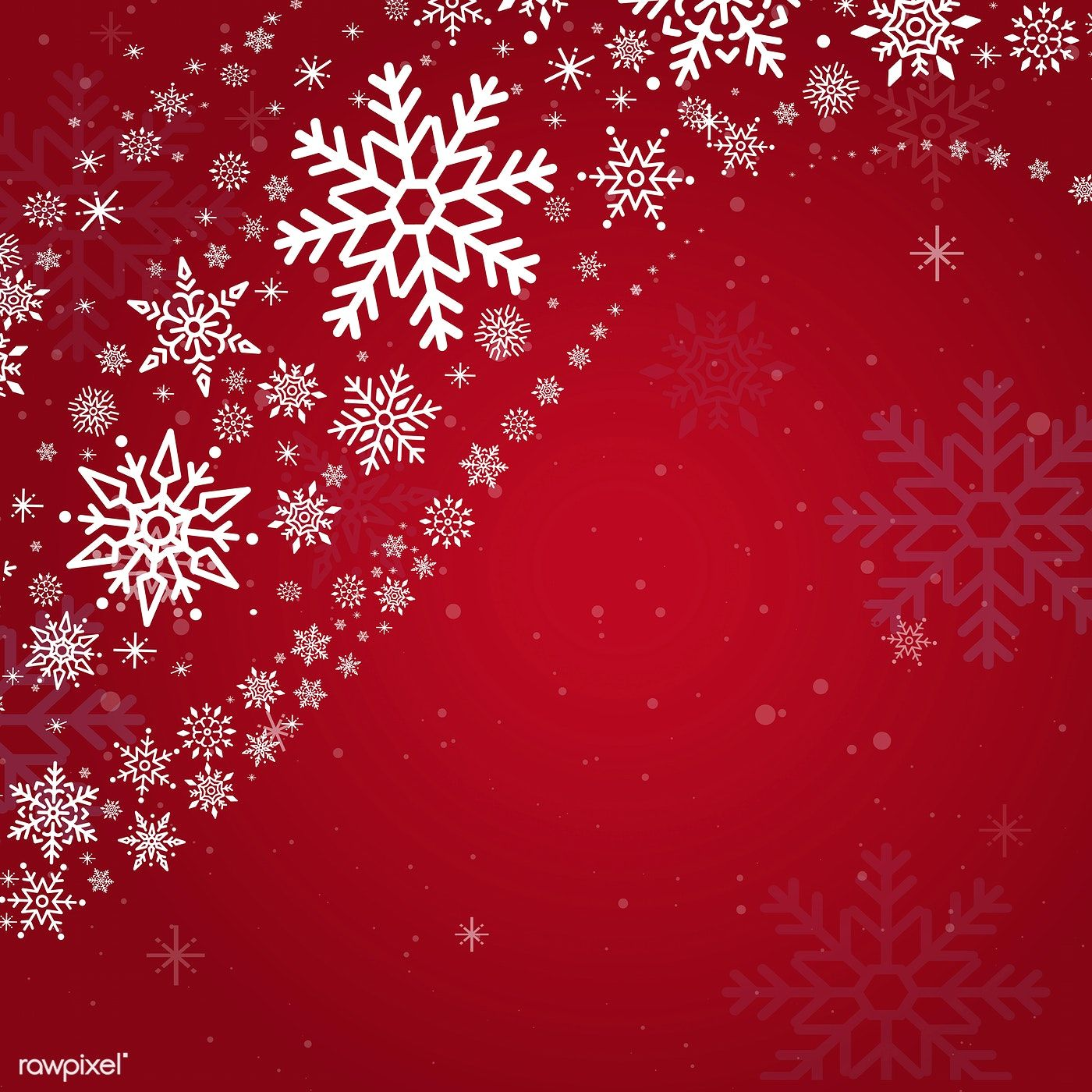 Red Christmas Winter Holiday Background With Snowflake Vector Free Image By Rawpixel Com Holiday Background Christmas Theme Background Red Christmas