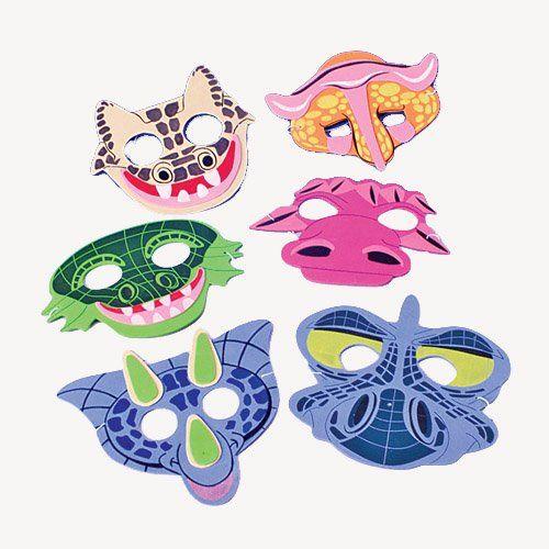12 Foam Dinosaur Masks -Dinosaur Party Favor Masks - List price: $12.95 Price: $5.95 Saving: $7.00 (54%) + Free Shipping