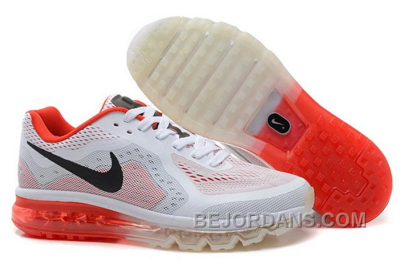 Nike Air Max 2014 Mesh White Red Black Mens Shoes For Wholesale