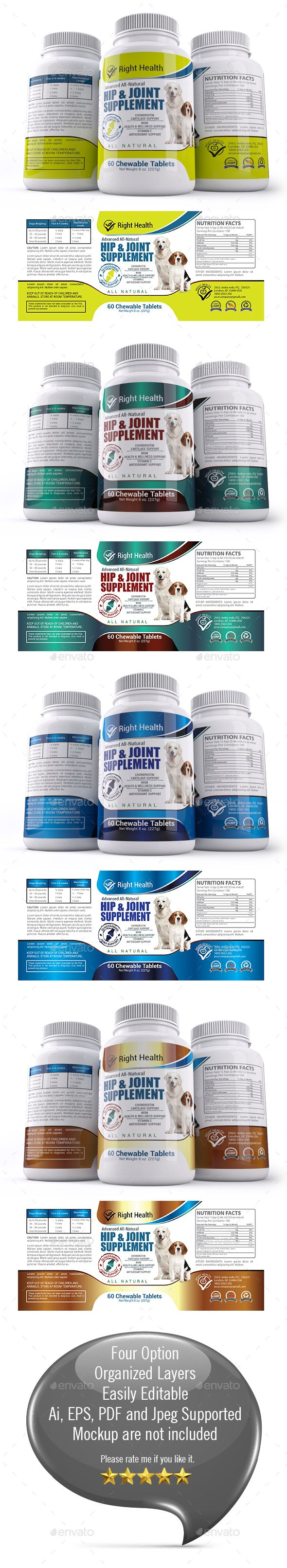 Dog Hip & Joint Supplement Label Templates