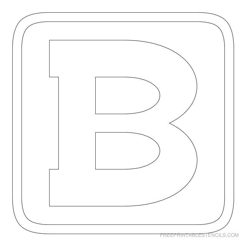 Printable Block Letter Stencil B | P A R E N T I N G | Letter