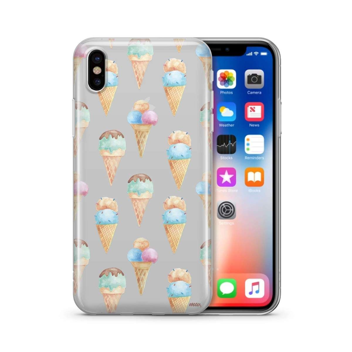 Watercolor Ice Cream Clear Tpu Phone Case Cover Phone Cases