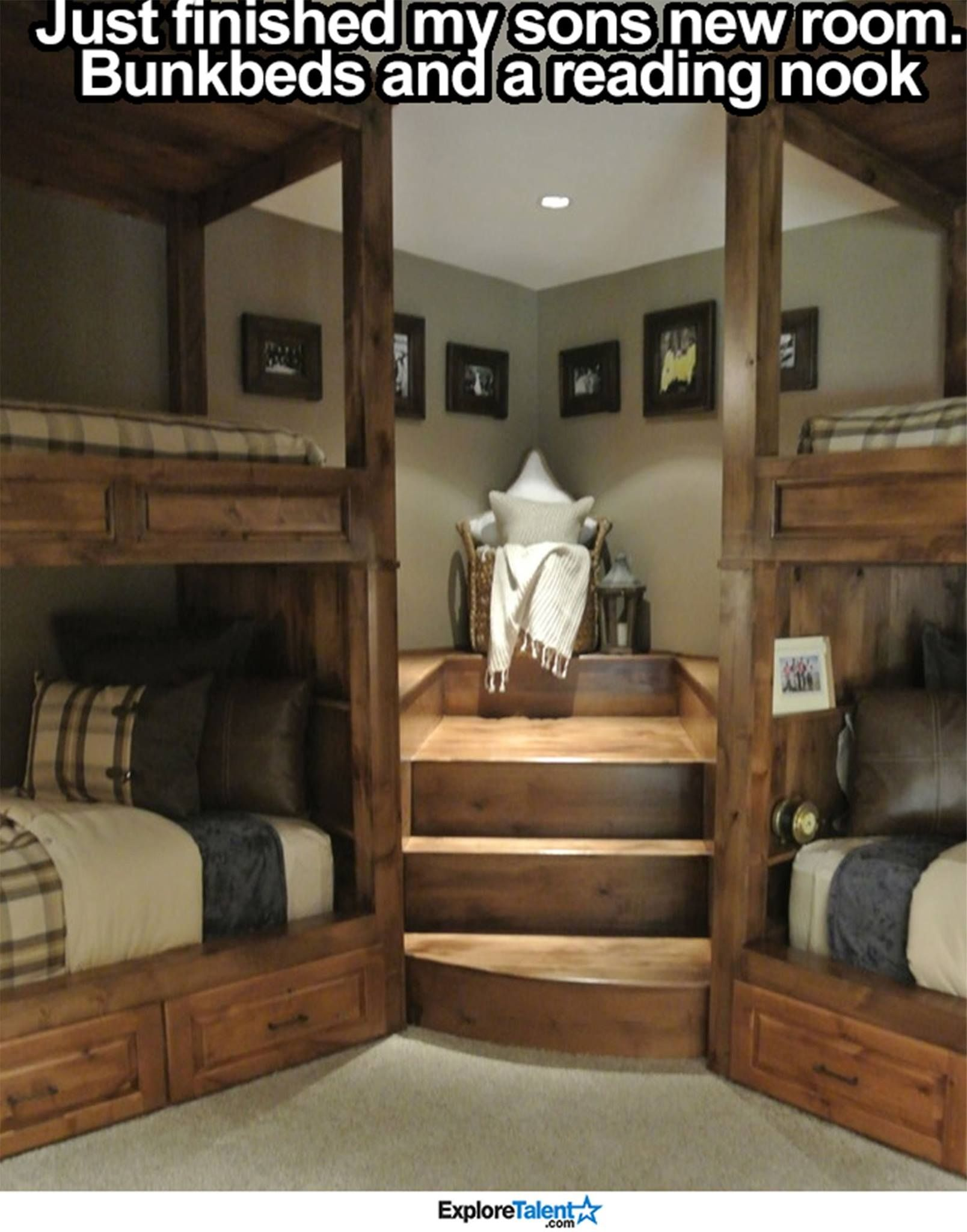 Bunk Rooms, Bunk Beds, Rustic Bedrooms, Reading Nook, Cabin Ideas,