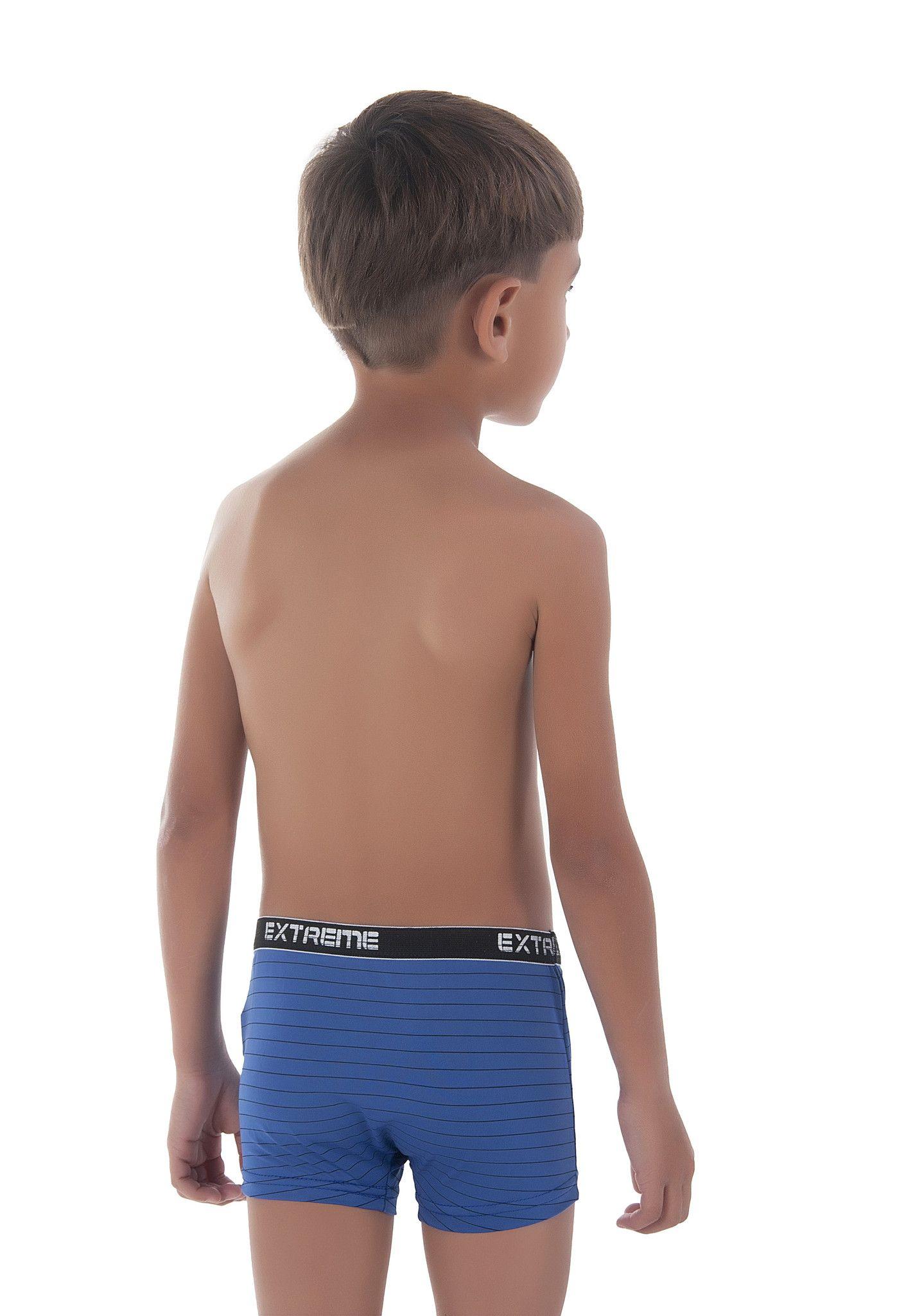 287e2a2fdca145 Cueca Boxer Infantil em microfibra Risca de giz | cueca | Crianças ...
