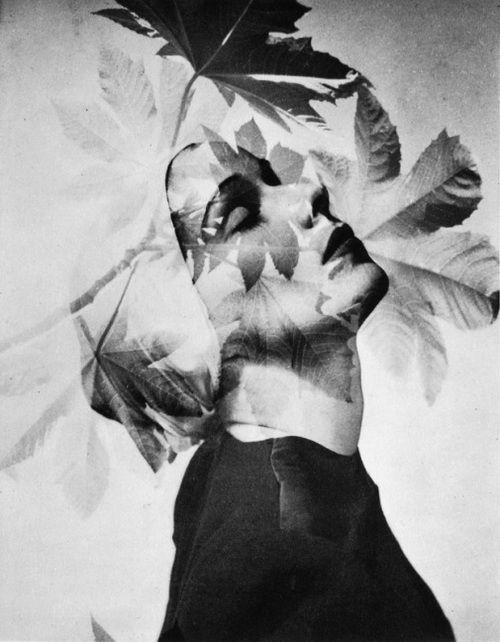Portrait [double-exposure], c.1942 - by Horst P. Horst