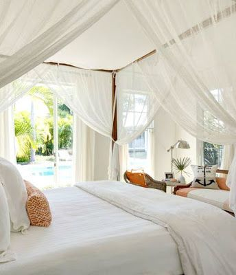 ideas for romantic tropical canopy beds