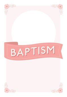 Pink Ribbon Free Printable Baptism Christening Invitation