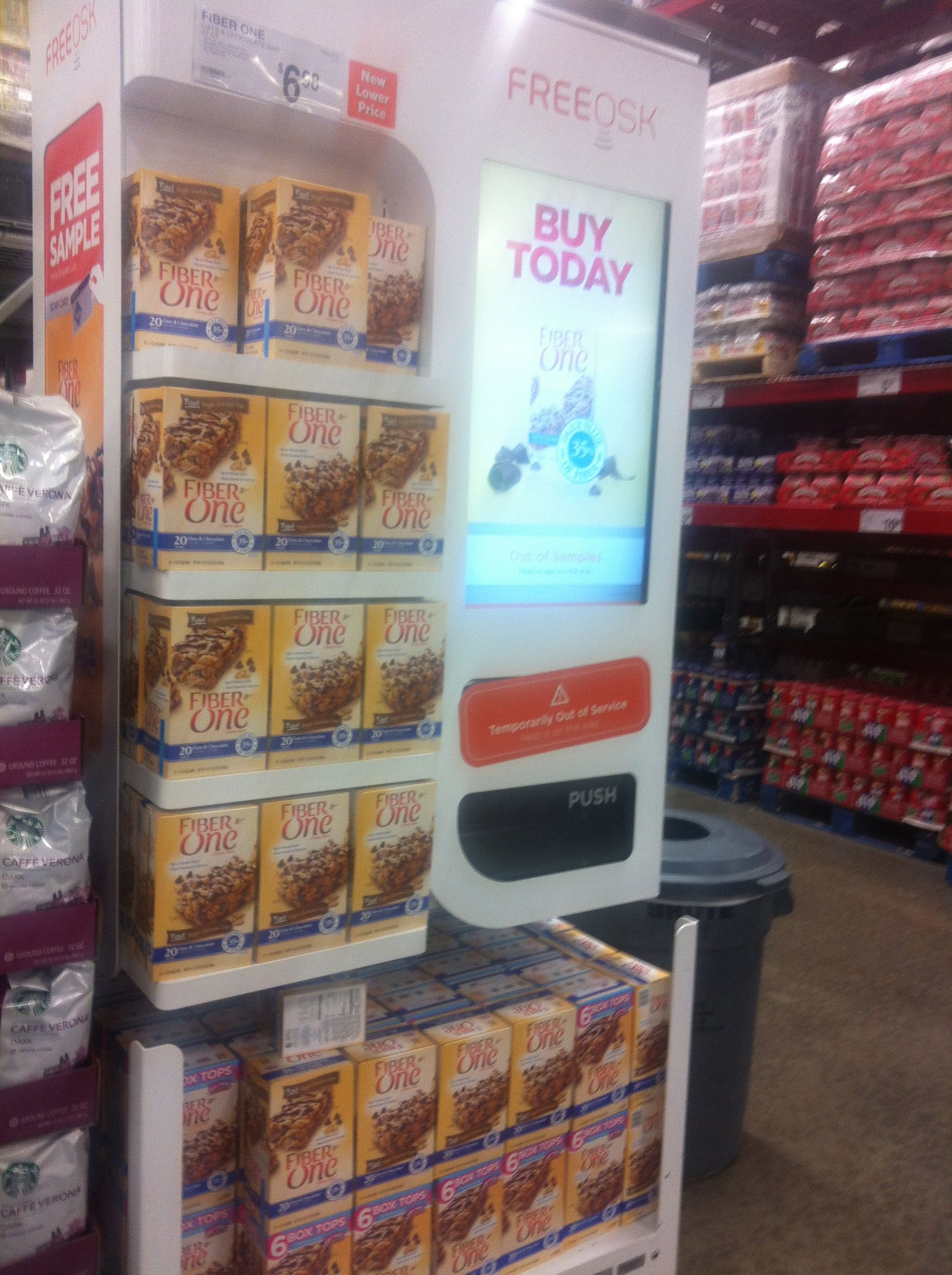 fiberone sample vending machine