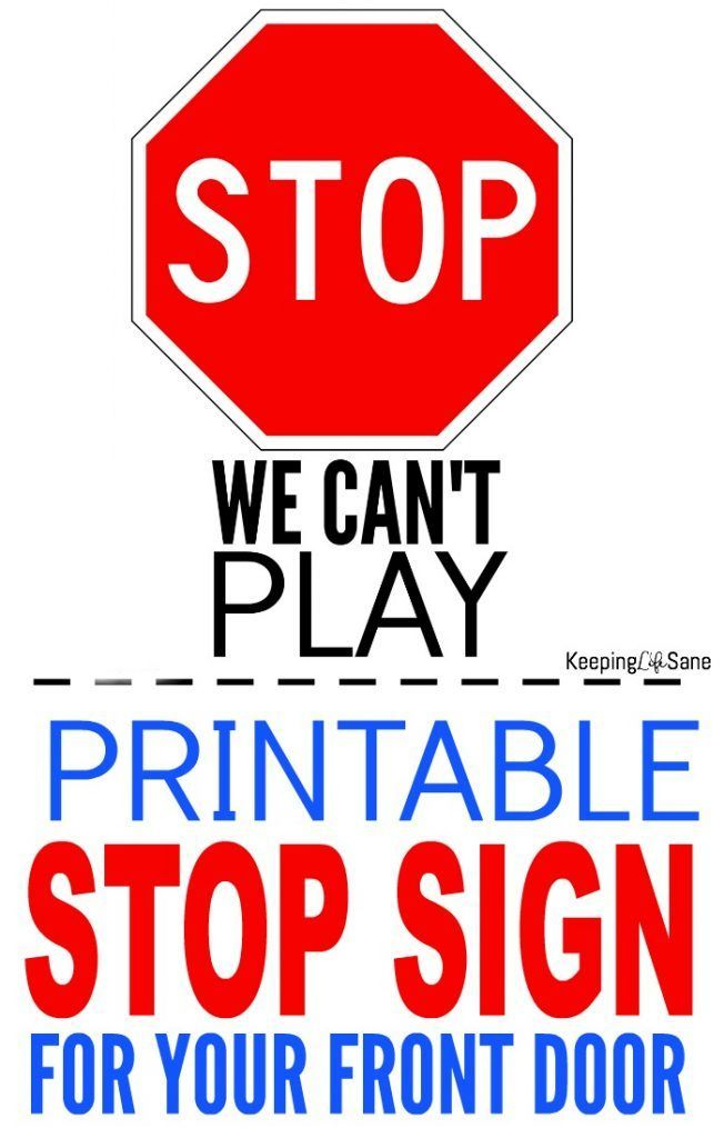photograph relating to Stop Signs Printable known as Printable Protect against Indicator for Entrance Doorway Maintaining Daily life Sane- Best