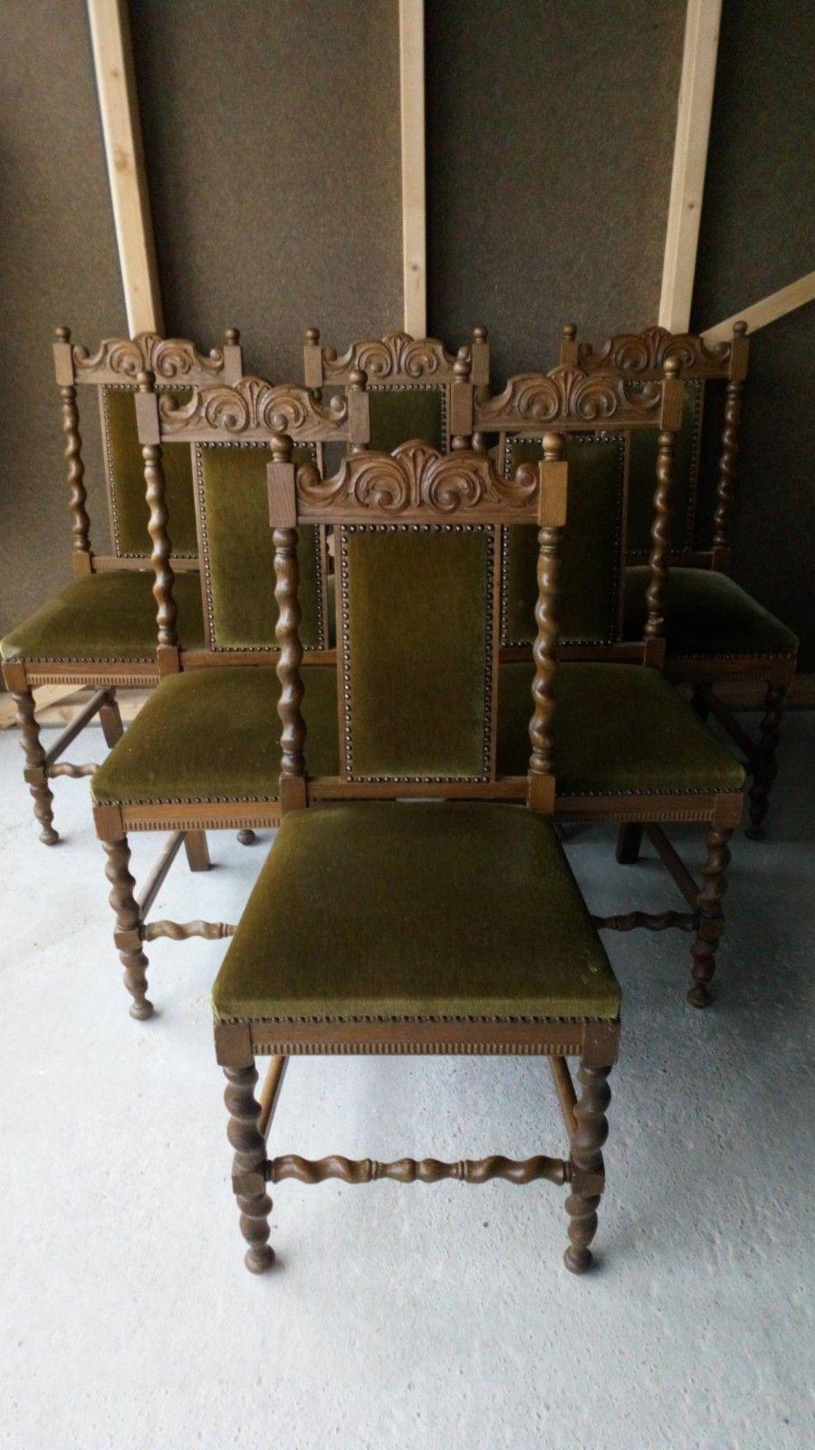 FINN – Antikk, gammel stoler og spisebord med 2 plater. | Møbler