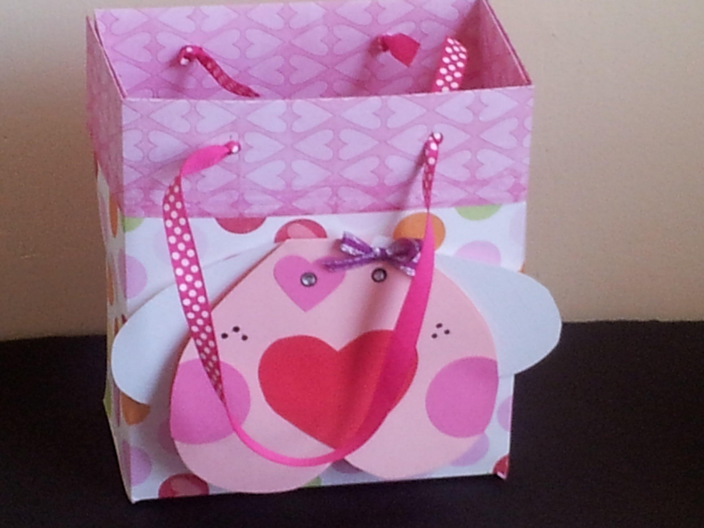 96124639c Bolsa Para Regalo (Scrapbook) Facil | Empaques | Bolsas de regalo ...