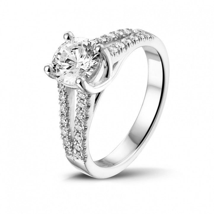solitaire ring witgoud