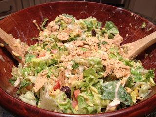 Chopped Chicken Taco Salad with Homemade Dressing