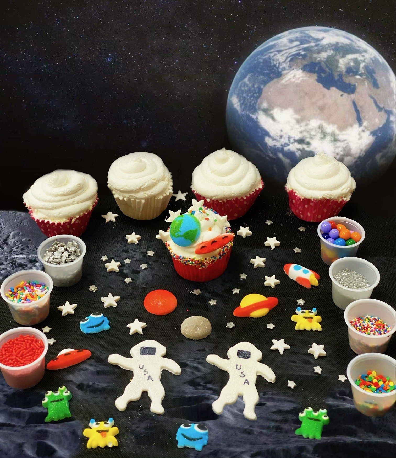 Weltraum Cupcake Backen Kit