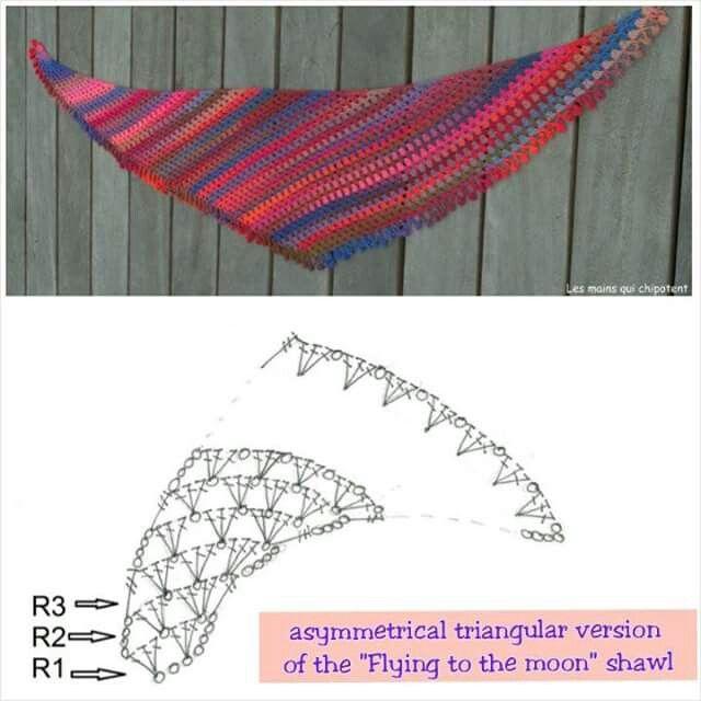Chal asimétrico | crochet chal | Crochet Shawl, Crochet, Shawl