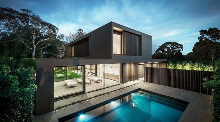 Magnifique maison contemporaine noire avec piscine