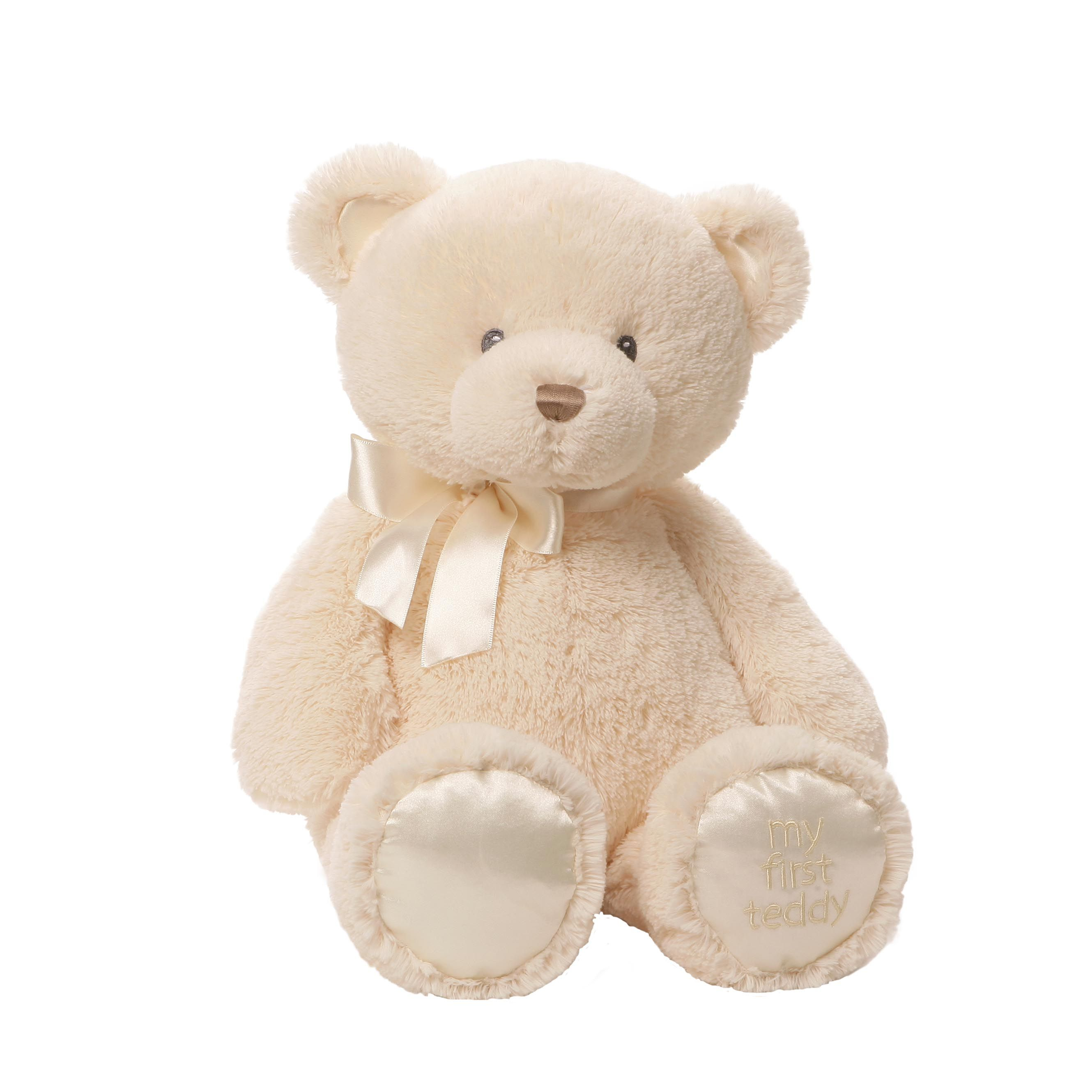 My First Teddy (Cream) is the perfect first gift for a