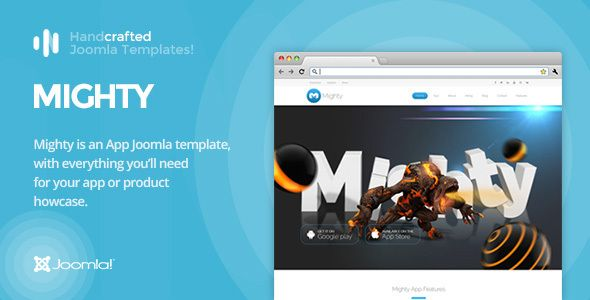 cool IT Mighty - App & Product Showcase Joomla Template Gantry 5 ...