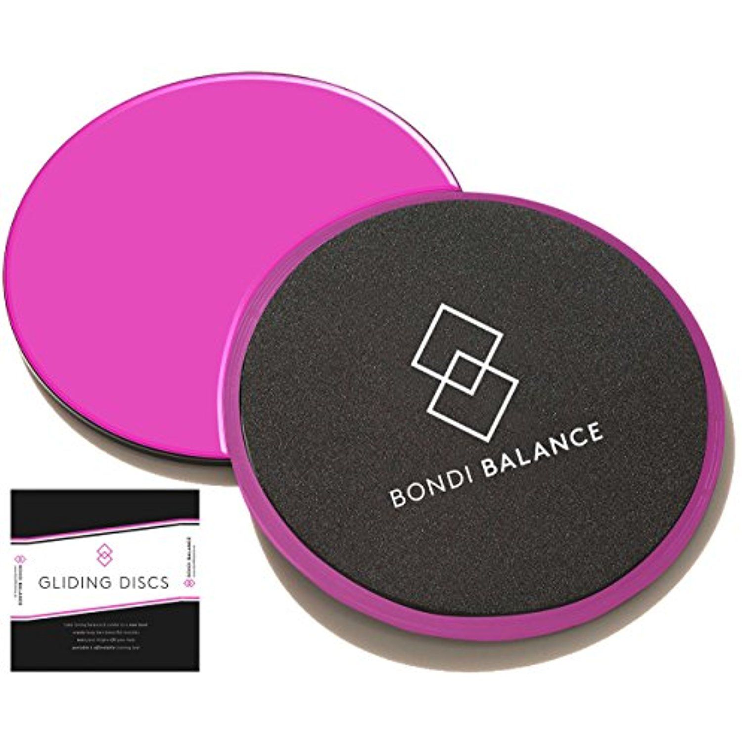 Bondi Balance Gliding Discs Hot Pink Dual Sided Core Sliders For
