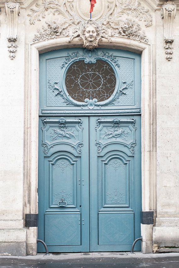 Paris Photography Le Porte Bleu Paris Door Fine Art Photograph
