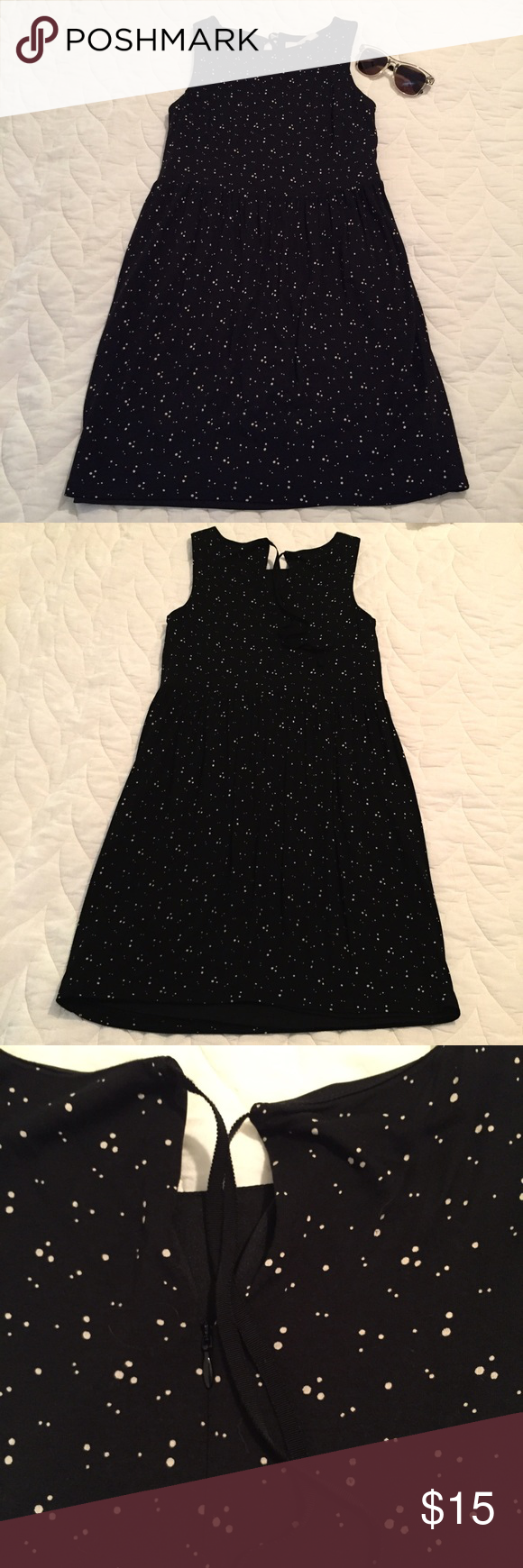 """LOFT Dress Cute sleeveless, dot patterned dress from LOFT. Style with a cardigan and boots for fall! In good condition. Smoke free home.  Bust - 15""""   Length - 32"""" LOFT Dresses"""