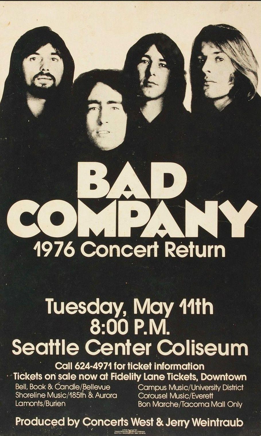Bad Company Concert Poster Oblozhki Albomov Plakat Muzykalnye