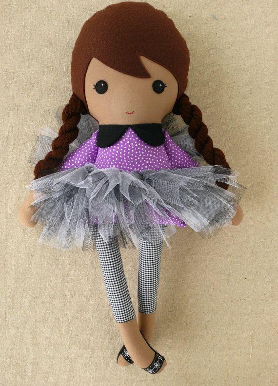 Reserved for Danae  Fabric Doll Rag Doll Girl in por rovingovine