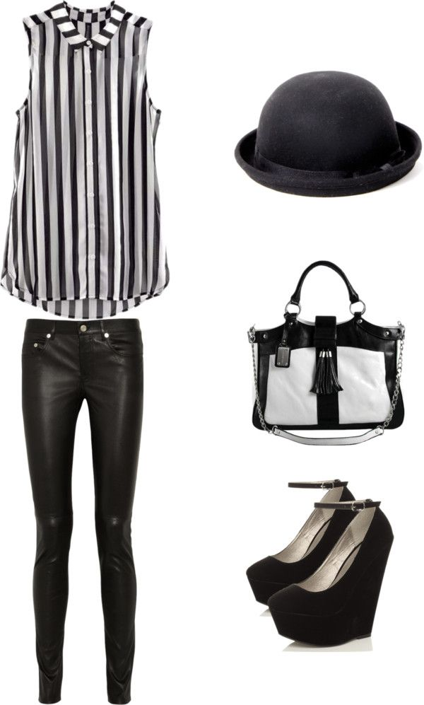 """""""Black and white mood"""" by lola-yusuf ❤ liked on Polyvore"""