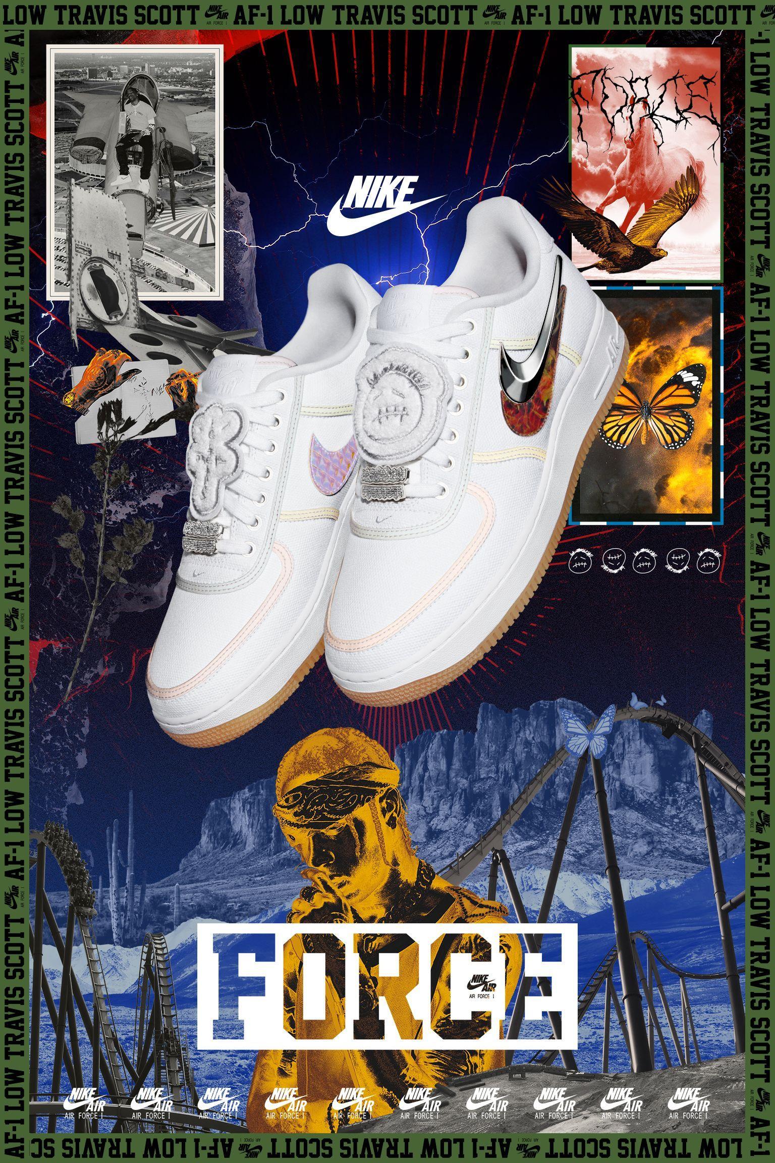 Nike Air Force 1 Travis Scott Release Date Sneaker Posters Sneakers Wallpaper Air Force 1 Travis Scott