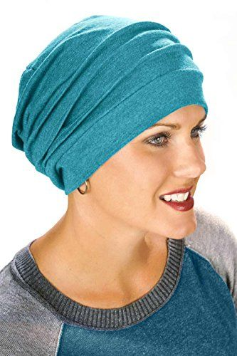 c4ec258215b 100% Cotton Slouchy Snood Chemo Cap - Hats for Cancer Che... https
