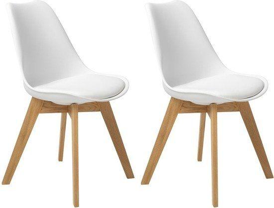 Butik living consilium valido stoel wit set van 2