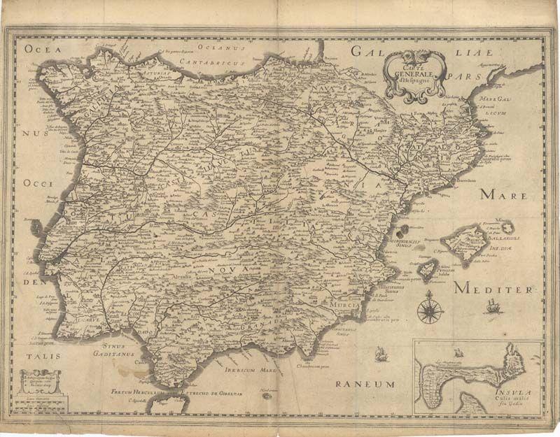 Espana Mapas Generales 1652 Mapas Cartografico Dibujos De Agua