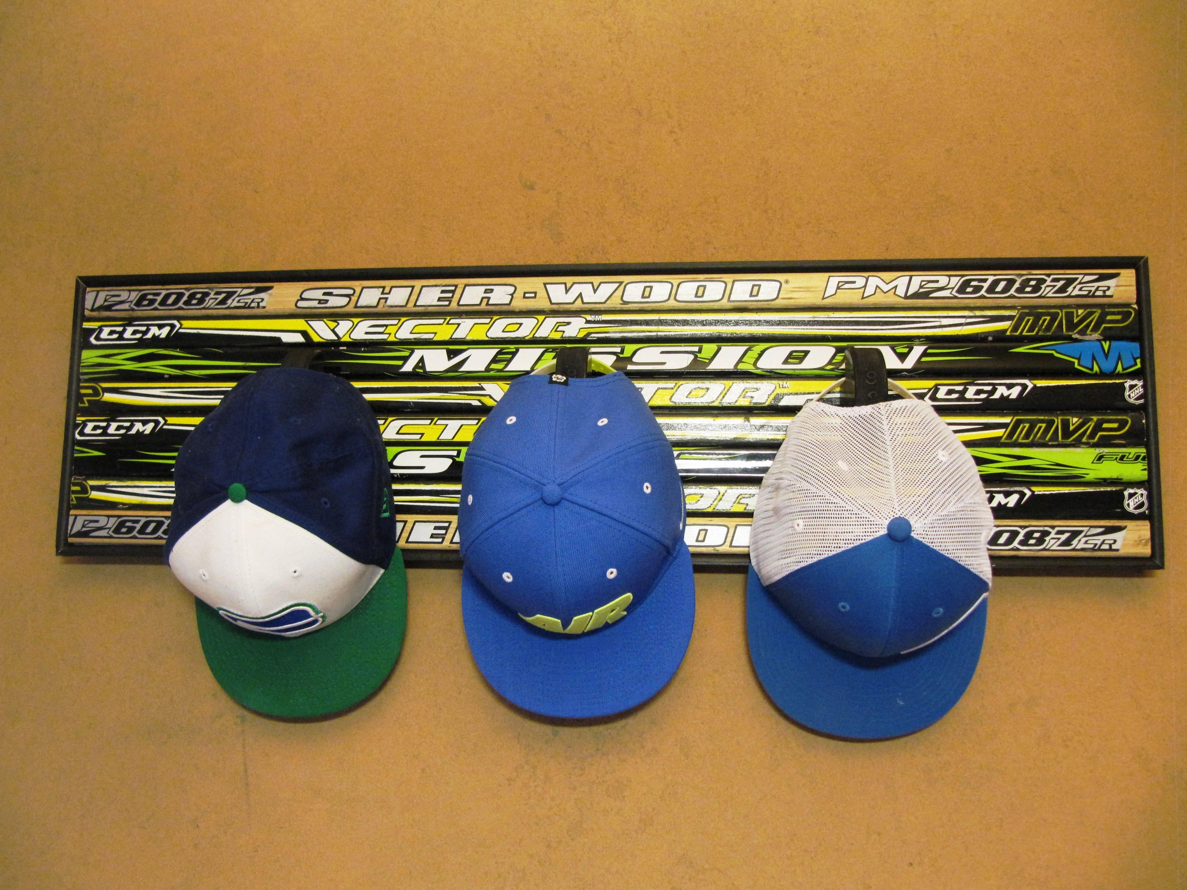 Quotthe Hat Trickquot Custom Built Hat Rack Made Of Old Hockey