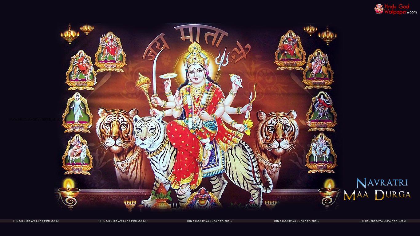 Maa Nav Durga Hd Wallpaper Free Download Happy Navratri Images Navratri Images Happy Navratri