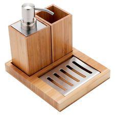 Mileno Bamboo Bench Top Set 3 Piece