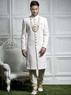 ef5d6e759a Off White Sherwani | Stuff to buy in 2019 | Wedding dress men ...